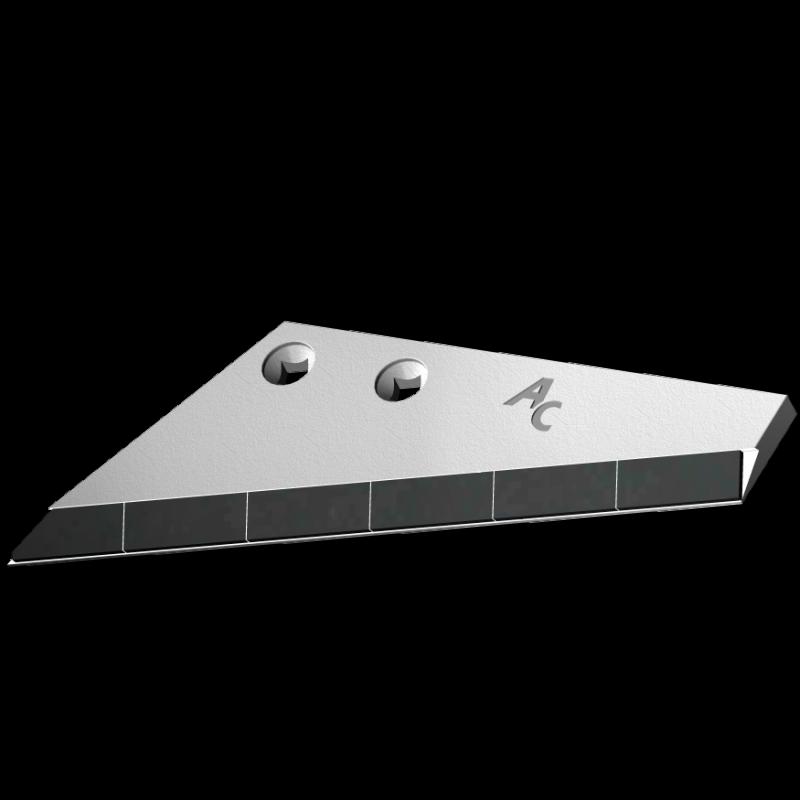 Flügelschar Farmet mit HM ADS 9708G (links) Agricarb