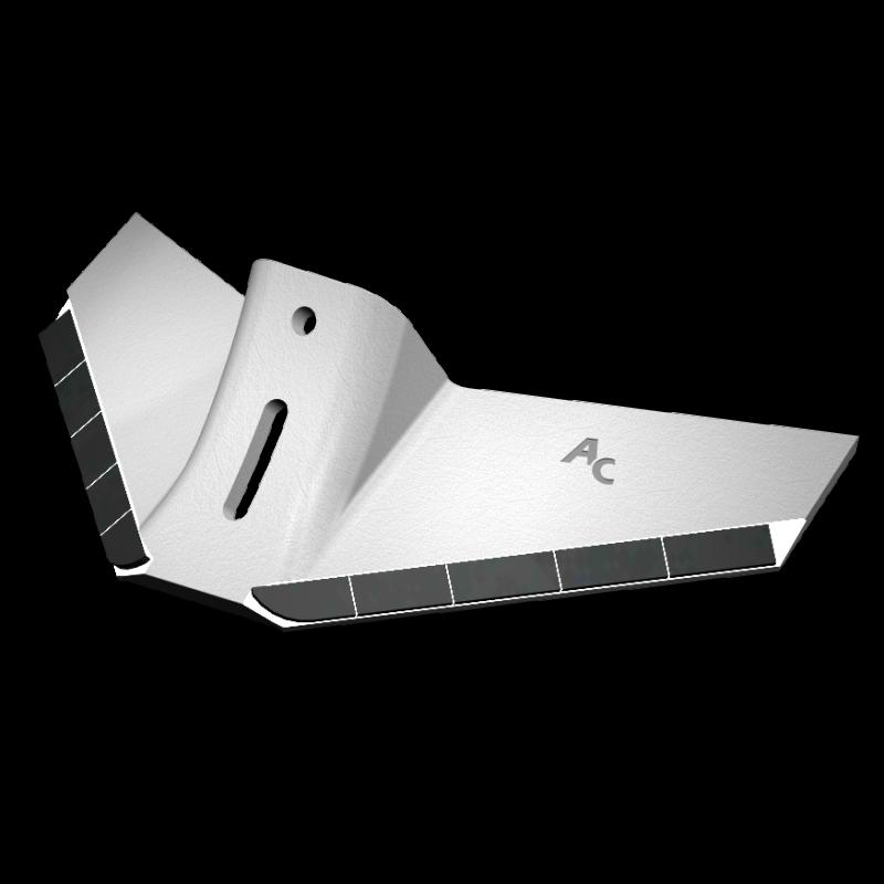 Flügelschar universal mit HM ADQ 4012 Agricarb