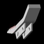 Tiefenlockerermeißel Maschio mit HM SDM 0681-R Agricarb
