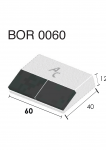 Meißelspitzen BOR 0050 (40x60x12 mm) Agricarb