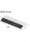 Meißelspitzen BOR 0135 (40x135x12 mm) Agricarb