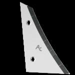 Streichblechvorderteile Kverneland mit HM ETK 0250G (links) Agricarb