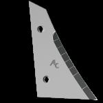 Streichblechvorderteile Kverneland mit HM ETK 0250D (rechts)