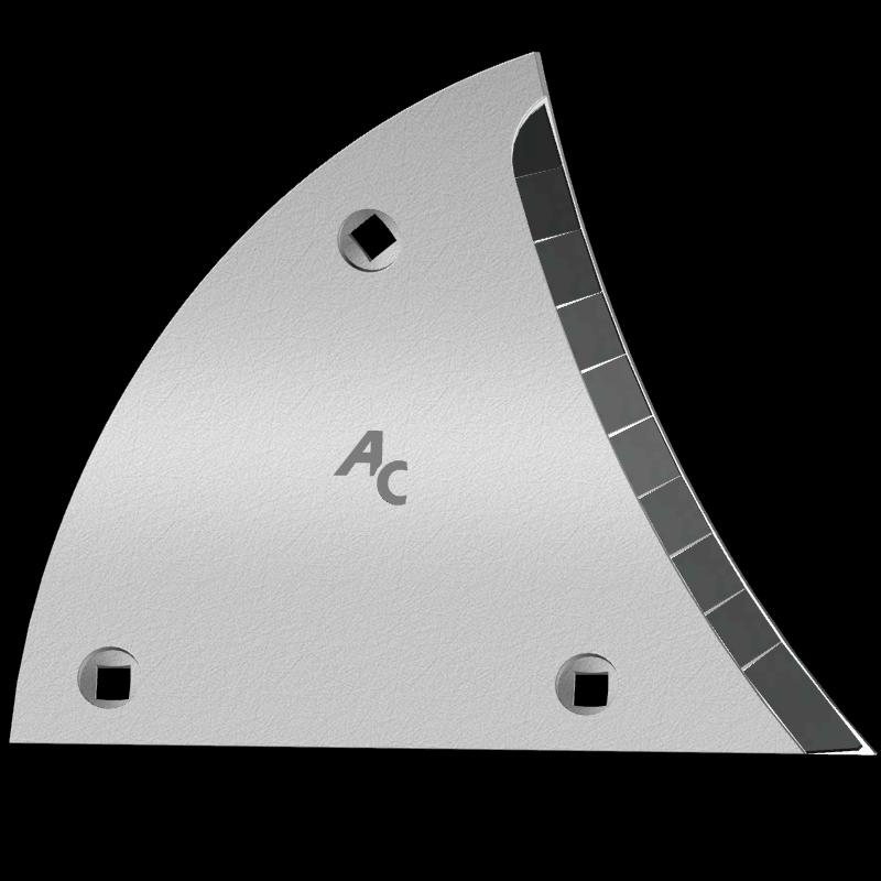 Streichblechvorderteile Lemken mit HM ETL 3450D (rechts) Agricarb