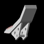 Tiefenlockerermeißel Maschio mit HM SDM 0270-R Agricarb