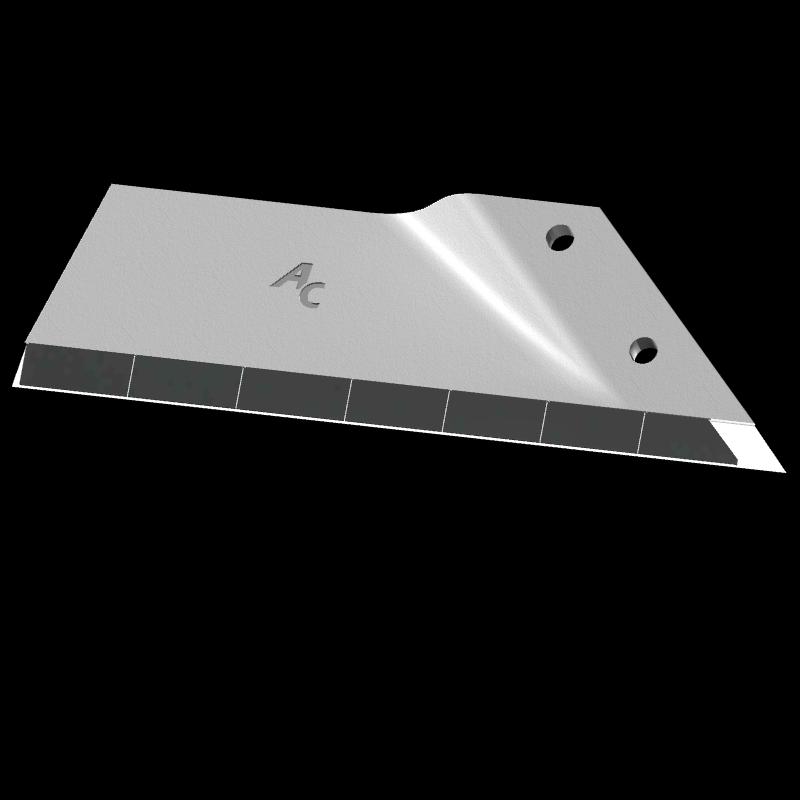Flügelschar Kongskilde (Howard) mit HM ADL 360CD (rechts) Agricarb