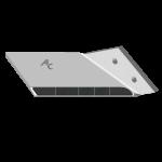 Flügelschar Lemken mit HM ADL 0018D (rechts)