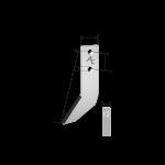 Fräshaken Grimme mit HM tip DPG 9660 Agricarb