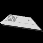 """Pflugschar Overum 14"""" mit HM SBO 5381D (rechts)"""